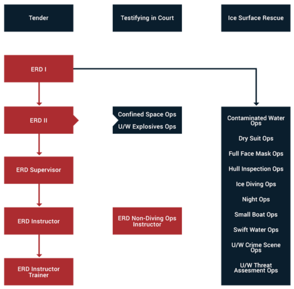 Emergency Response Dive Instruction Courses chart